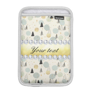Modern Christmas Trees Snow Stars Diamonds iPad Mini Sleeve
