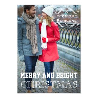 Modern Christmas vintage elements Groupon photo Card