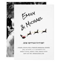 Modern Christmas Wedding/Dinner/Engagement PHOTO Invitation