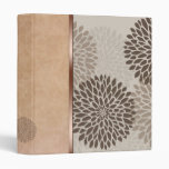 Modern Chrysanthemum and Suade 3 Ring Binder