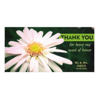Modern Chrysanthemum Bridesmaid Thank You Card