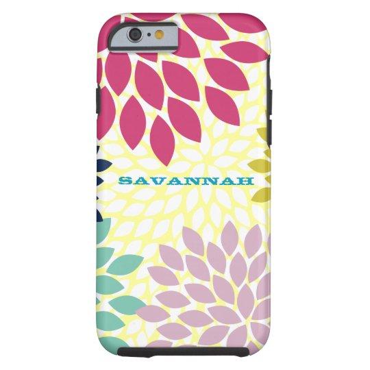 Modern Chrysanthemum Personalized iPhone Tough iPhone 6 Case
