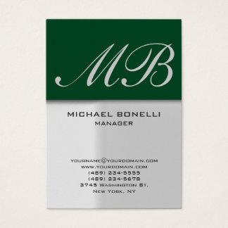 Modern chubby grey green trendy business card