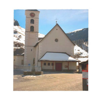 Modern Church in the Swiss mountains Note Pad