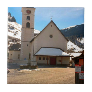 Modern Church in the Swiss mountains Tiles