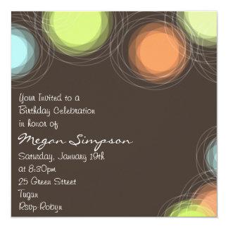 modern Circle Design Birthday Invitation
