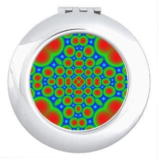 Modern circle hearth pattern vanity mirror