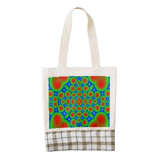 Modern circle hearth pattern zazzle HEART tote bag