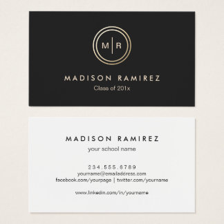 Circle logo business cards templates zazzle for Business cards for graduate students