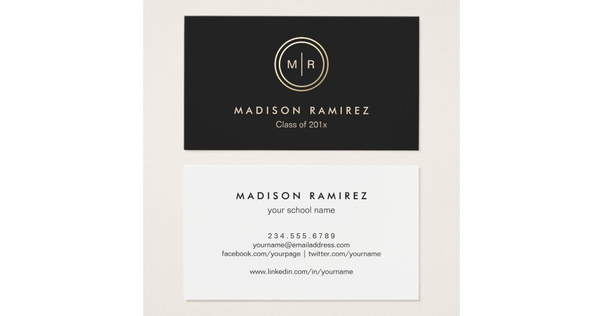 Student Business Cards & Templates | Zazzle