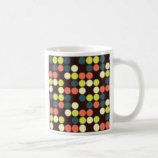 Modern Circle Mosaic Pattern Polka Dots Color Coffee Mug