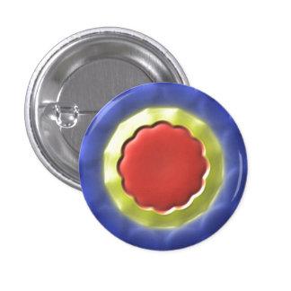 Modern circle pattern 1 inch round button