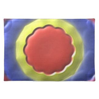 Modern circle pattern cloth placemat