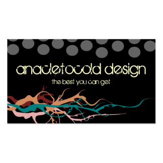 modern circles bussiness card with flames