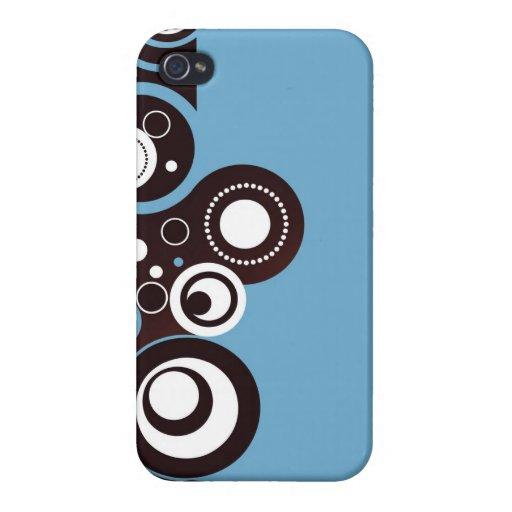 Modern Circles Decorative Art iPhone 4/4S Cases
