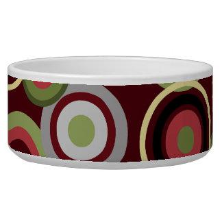 Modern Circles Dog Water Bowl