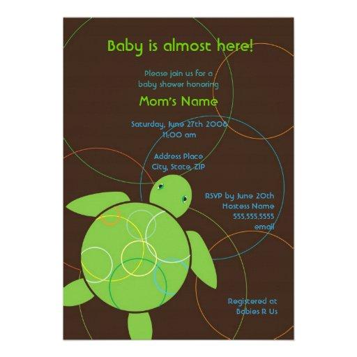 Modern Circles Happy Honu Baby Shower Invitation