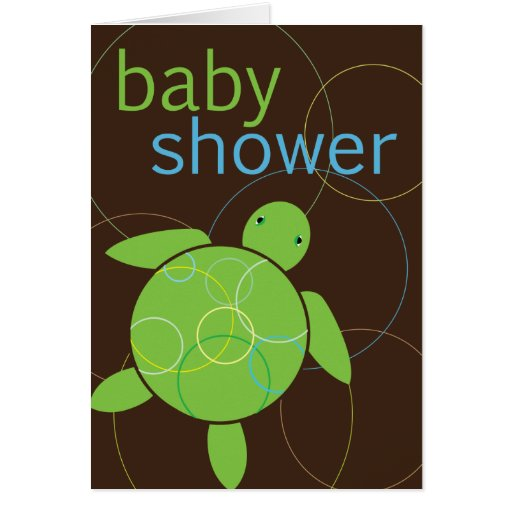 Modern Circles Happy Honu Baby Shower Invitation Greeting Card