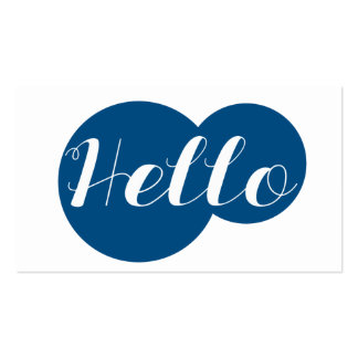 Modern Circles Hello | Business Cards