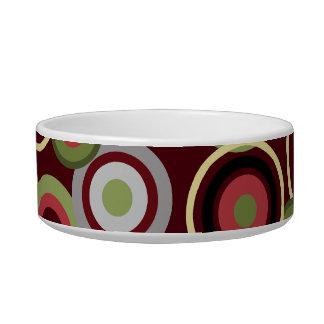 Modern Circles Pet Food Bowls