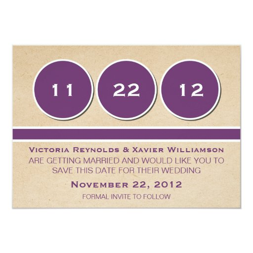 Modern Circles Save the Date Announcement, Purple