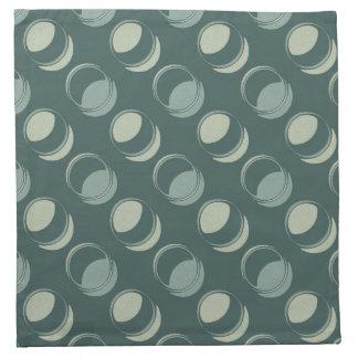 Modern Circles Textured Shades of Teal and Green Napkin