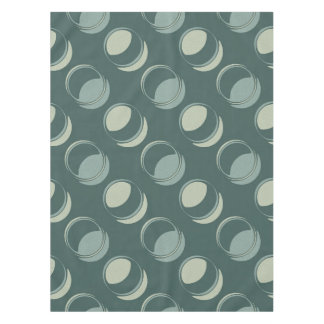 Modern Circles Textured Shades of Teal and Green Tablecloth
