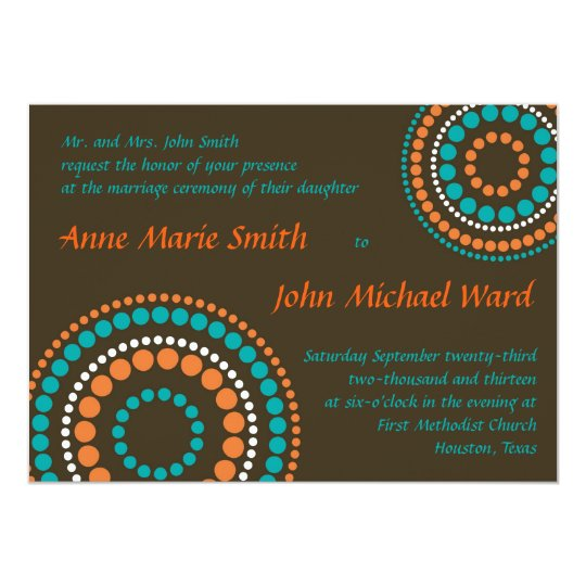 Modern Circles Wedding Invitation - Turquoise