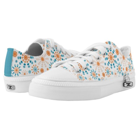 Modern circular bursts teal and orange Low-Top sneakers