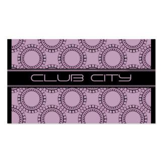 Modern Circular Caps Business Card, Lavender