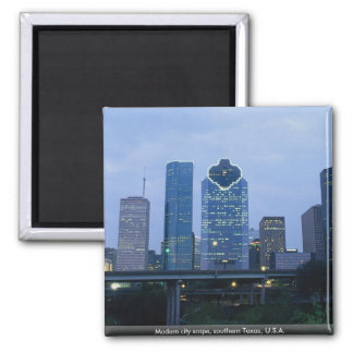 Modern city scape, southern Texas, U.S.A. Refrigerator Magnets