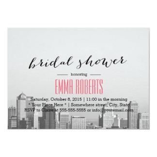 Modern City Skyline Destination Bridal Shower Card