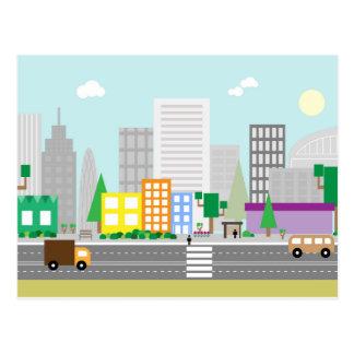 Modern city style street Postcards