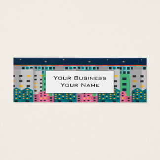 modern cityscape clean lines business card custom