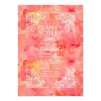 "Modern Class of 2015 Graduation Party Invitation 5"" X 7"" Invitation Card"