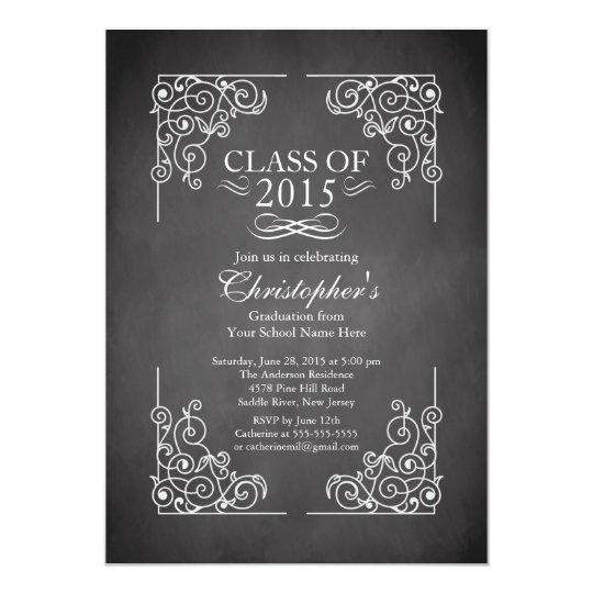 Modern Class of 2015 Graduation Party Invitation
