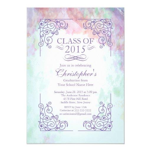 modern class of 2015 graduation party invitation zazzle