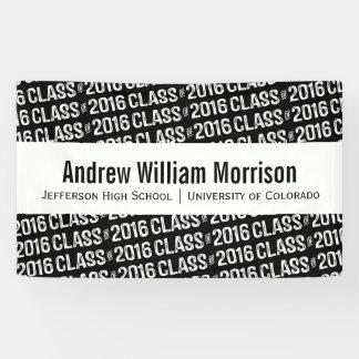 Modern Class of 2016 Graduation Custom Color Banner