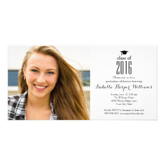 Modern Class of 2017 Graduation Photo Card