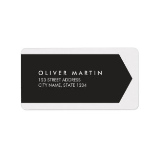 Modern Classic Black and Light Grey Address Labels