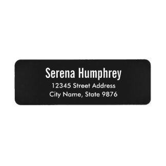 Modern -Classic Black- Personal Address Label