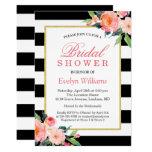 flowers, stripes, gold, floral, bridal shower,