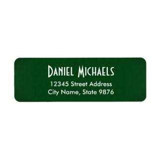 Modern -Classic Green- Return Address Label
