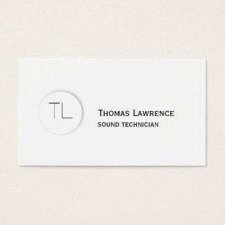 Modern Classic Monogram Business Card Template