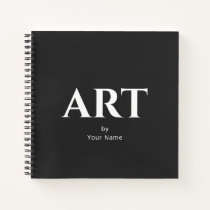 Modern Classic Personalized Sketchbook Your Name Notebook