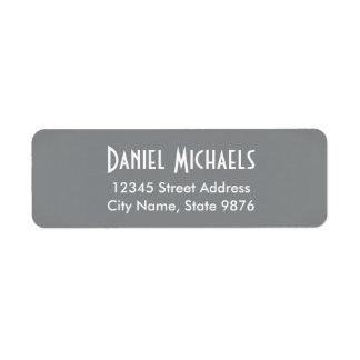 Modern -Classic Silver- Return Address Labels