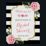 "Modern Classy Pink Floral Bridal Shower Sign<br><div class=""desc"">================= ABOUT THIS DESIGN ================= Modern Classy Pink Floral Bridal Shower Sign Poster. (1) All text style, colors, sizes can be modified to fit your needs. (2) If you need any customization or matching items, please feel free to contact me. (In case you didn&#39;t get my response, please check the...</div>"