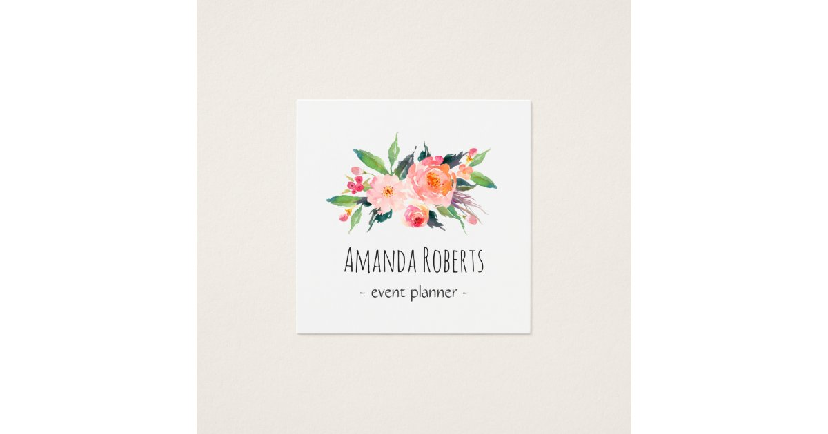 Floral Business Cards & Templates | Zazzle