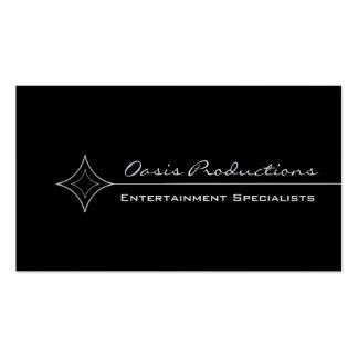 Modern Clean Diamond Business Card, Black & White