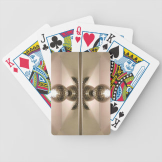 Modern Clean Geometric Mirrored Cabinet Knobs Bicycle Playing Cards